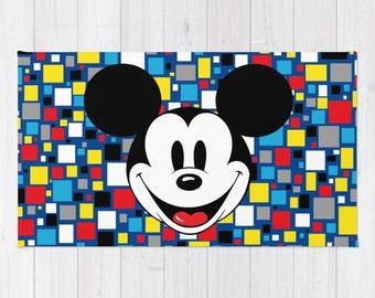 Mickey Mouse Rug, Mickey Mouse Clubhouse Rug, Mickey Throw Rug, Disney Rug, Mickey  Mouse Nursery Rug, Mickey Playroom Rug