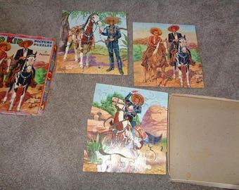 3 Cisco Kid Picture Puzzle In Box