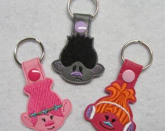 Troll Key Fobs     Troll Keychain Set