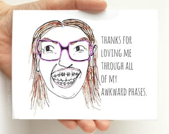 Awkward Phases Fathers Day Card - Funny Fathers Day Card - Fathers Day Card Funny - Card for Dad - Fathers Day Gift - funny cards
