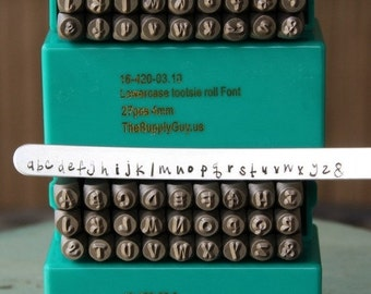 Spring Sale Brand New 4mm Tootsie Roll-Cashew Apple Ale Font Alphabet Letter Combination Stamp Set- 4MM Jewelry Metal Stamps- SGCH-TOOTUL4Mm