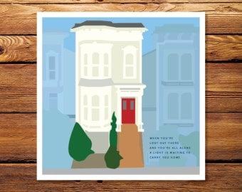 Full House - 8 x 8 Giclee Print