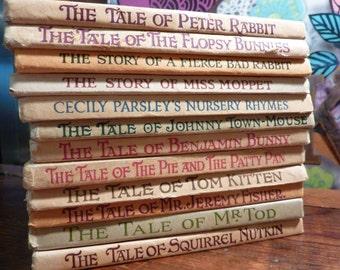 Set Of 12 Beatrix Potter Vintage Children's Books After 1967 See Listing For Book Titles
