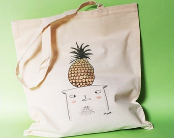 "Tote Bag ""Pineapple Cat"""