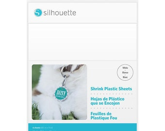 New!! WHITE Shrink Plastic for Silhouette CAMEO or Portrait
