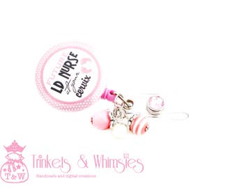 Future LD Labor and Delivery Nurse At Your Cervix Pink Retractable Badge Holder
