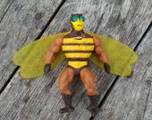 Vintage He Man Masters of the Universe (MOTU) Buzz-Off 1983 Mattell NO Weapon Vintage Toy Action Figure So Cooool DAMAGED