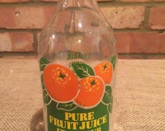 Vintage Unigate milk bottle Pure Fruit Juice from your milkman