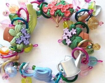 Garden bracelet/ gardner/ Spring/Flowers/Beadiebracelet