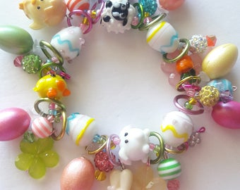 Easter bracelet/Bunny/Beadiebracelet