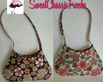 Reversable Natt tote handbag - Flower print