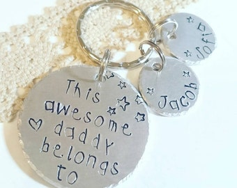 Fathers Day Gift Personalized, Dad Gift, Dad Keychain, Gift for Dad, Father's Day gift, This dad belongs to... Best dad, Dad gift