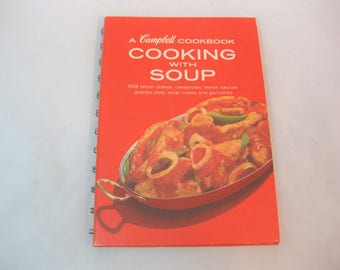 Cooking with Soup, CampbellsCookbook, Vintage Cookbook, Campbell Soup Cookbook