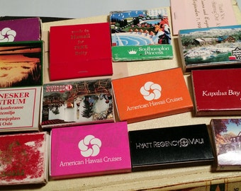 Vintage match boxes and books collection,in found condition