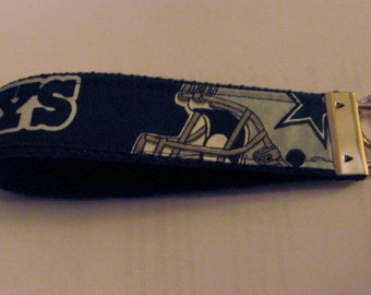 "NFL Sports Team Wristlets - Dallas Cowboys  Fabric Design Bold ""Cowboys"" 10 1/2  FREE SHIPPING"
