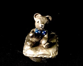 Teddy bear tooth fairy/trinket box