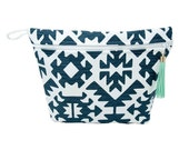 Tribal Vinyl Lined Makeup Bag or Wet Bag- Ready to Ship