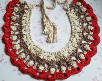Crochet necklace, necklace, Jewelry, Fine jewelry, colorful jewelry, Crochet, Crochet OOAK, Collar, Crochet Collar, lose Collar, Neckpiece