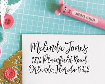 Custom Personalized Address Stamp - MELINDA Style