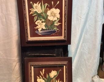 Vintage Pair of Turner Floral Prints
