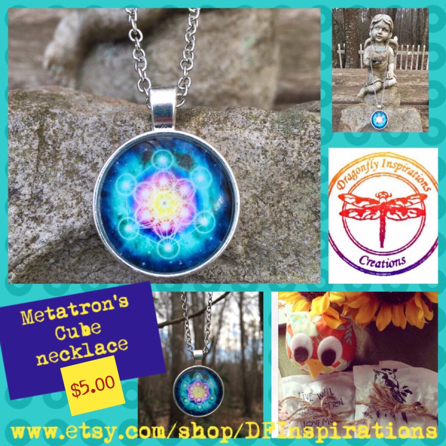 Metatron 39 s cube sacred geometry necklace reiki infused for Metatron s cube jewelry