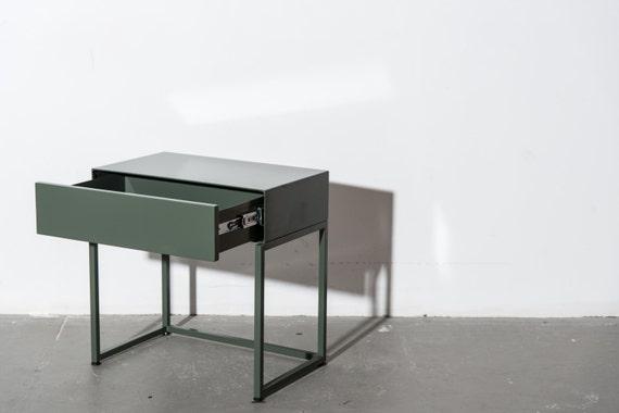 table de chevet minimal avec tiroir doux troite ct lit table chevet lit minimaliste ct nuit contemporain stand chevet tiroir pcd1 - Table De Chevet Tiroir