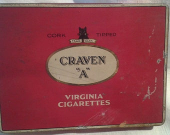 Craven A Vintage Cigarette Tin