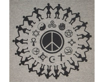 Coexist Religious Tolerance Peace T-Shirt BL