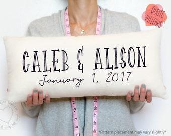 3 year gift, anniversary gift,  personalized gift, pillow, cotton gift pillow, personalized, anniversary pillow, love pillow, lumbar