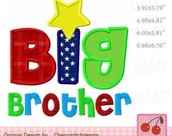 Big brother Machine Embroidery Applique Design