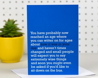 How It Was In Your Day - Birthday Card