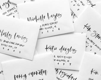 Watercolor Envelope | Wedding Envelope Addressing | Modern Calligraphy Envelope Addressing | A7