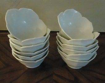 Vintage Set of 15  Lotus Bowls