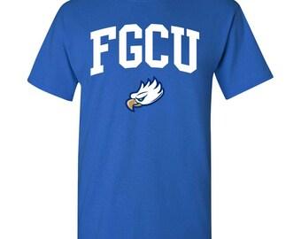 Florida Gulf Coast Eagles Arch Logo T-Shirt FGCU Tee Shirt