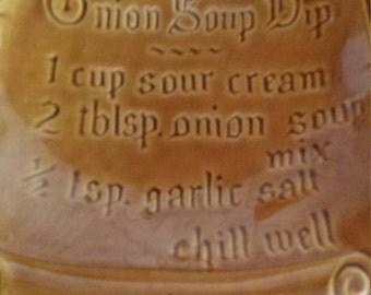 California Pottery Onion Dip Server