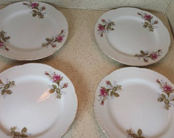 Moss Rose Luncheon Plates - Set of 4
