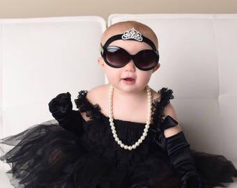 Audrey Hepburn Inspired Baby Girl. Toddler . Little Girl. Breakfast At Tiffany's Set