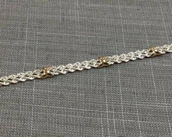 Vintage 925 And 14 K Gold Chain  Women's Bracelet!!!