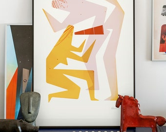 Touch me 3/4. Signed illustration art poster giclée print.