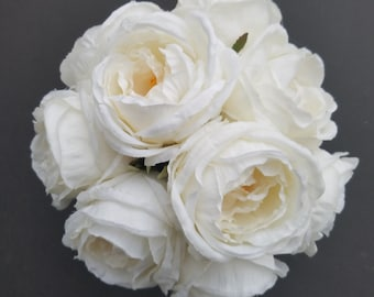 Ivory Garden Rose Wedding Bouquet