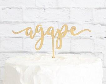 Agape Cake Topper, Wedding Cake Topper, Anniversary Cake Topper, Agape Wedding Cake Topper, Custom Cake Topper, DIY Cake Topper