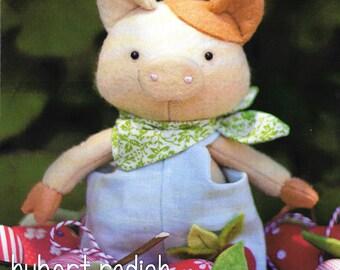 Pattern ''Hubert Radish'' Pig Stuffed Toy, Fabric Soft Sculpture Sewing Pattern by May Blossom (MB072)