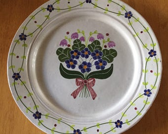 Vintage Hand Painted Plate ... Free Shipping ... 10% Off Coupon SAVE10