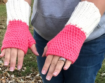 Infinity Scarf and Fingerless Gloves Set