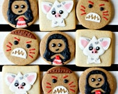 Kawaii Style Moana Themed Cookies - 1 Dozen Decorated Gingerbread and Sugar Cookies