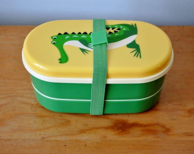 Swedish Bento Box Crocodile Children's Lunch or Snack Set