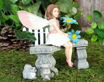 how to make a fairy garden chair with wires