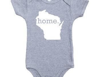 Homeland Tees Wisconsin Home Unisex Baby Bodysuit