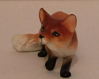 Small Ceramic Fox Figurine Woodland Animal