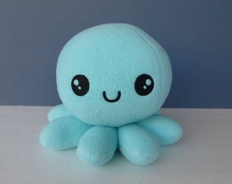Kawaii Boy Octopus:  Light Aqua